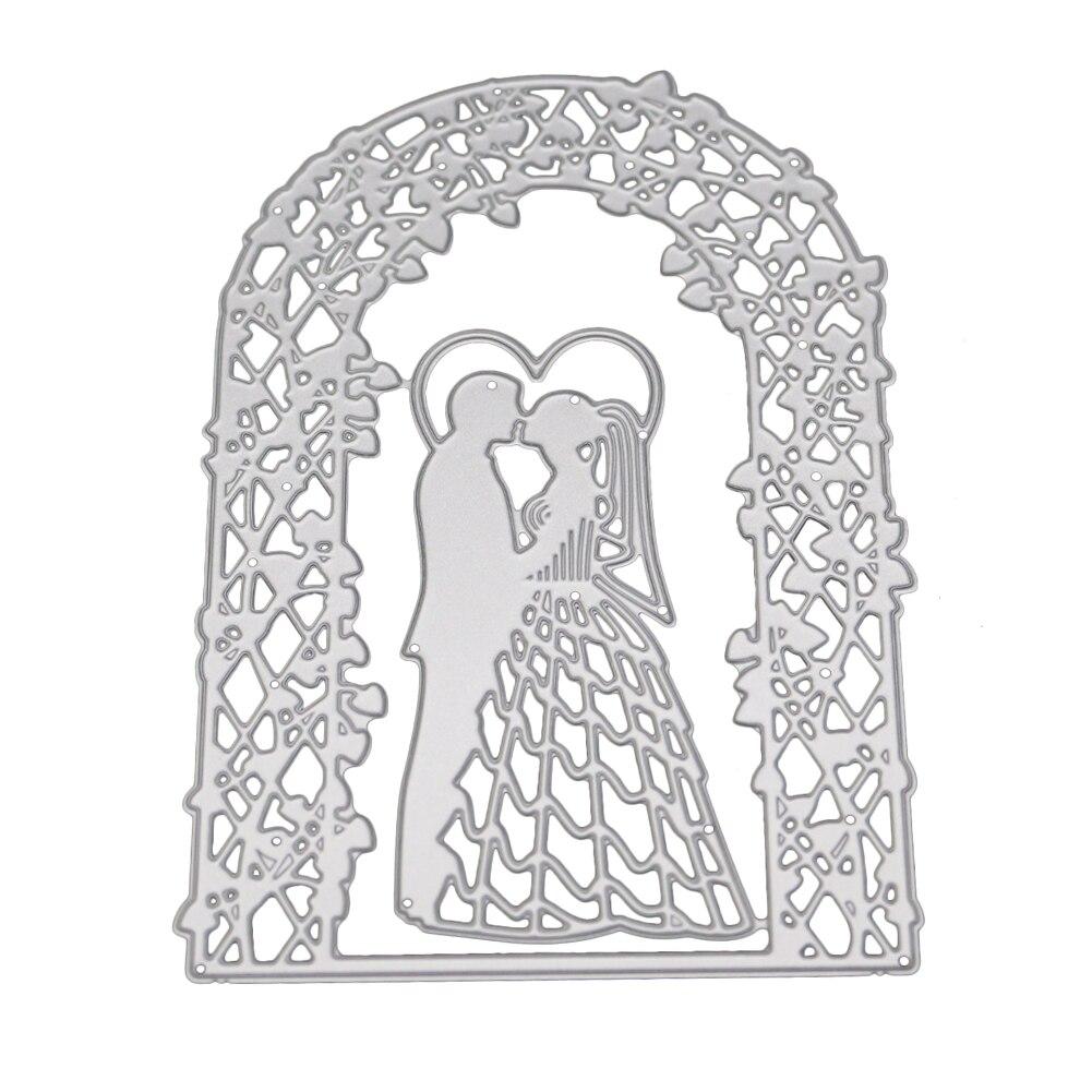 Plantillas de corte de Metal para chica, plantillas de boda para tarjetas de Scrapbooking, manualidades DIY 2018, nuevo snijmal en relieve, cortes stenzschablonendie