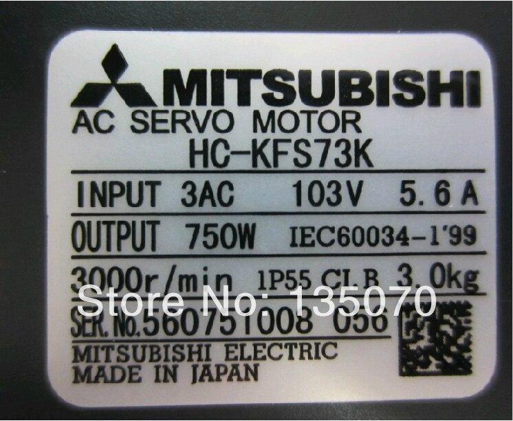 Barato original Mitsubishi ac cnc motor servo kit 750W HC-KFS73K