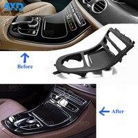 W213 Center Console Air Vent For Mercedes-Benz W213 Carbon Center control panel Dashboard Interior Trim 2016 2017 2018 2019