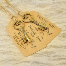 Étiquettes de cadeaux de mariage personnalisées   Étiquettes de cadeaux anciennes pour carte descorsure, ensemble de clés Vintage de 50 à 100 pièces