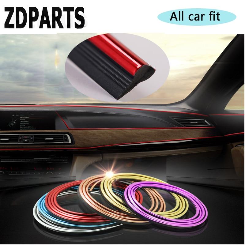 ZDPARTS 3M pegatina de embellecedor decorativo interno de automóviles para Hyundai i30 ix35 ix25 Solaris Tucson 2017 Mazda 3 6 cx-5 Subaru