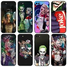 Suicide Squad Joker Harley Quinn Silikon telefon Fällen für Apple iPhone 11 Pro 6 6S 7 8 Plus X XR XS MAX 5S SE Schwarz fall abdeckung