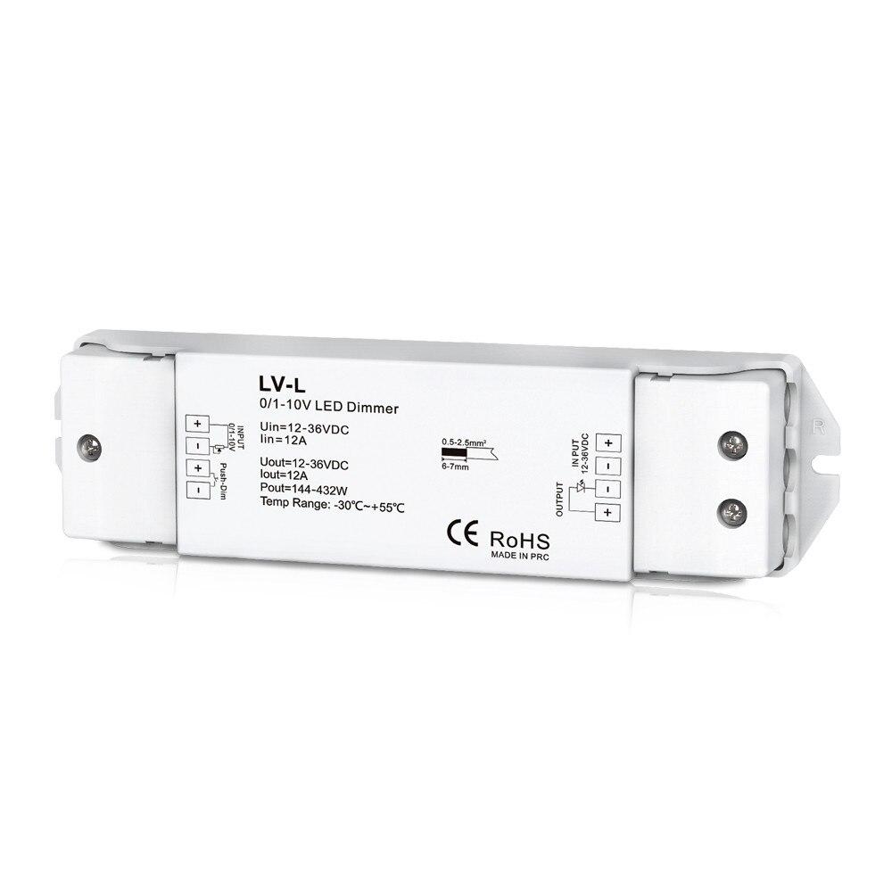 LV-L; controlador de atenuación LED de 0/1-10 V; entrada de 1 canal de 0/1-10 V, voltaje constante de 1 canal PWM o salida de corriente constante