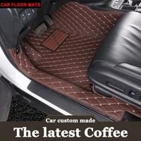 custom fit car floor mats for hyundai ix25 ix35 elantra sonata solaris tucson verna veloster carstyling carpet liner