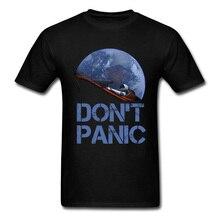 Nouveauté occuper la terre SpaceX Starman T-Shirt homme 100% coton Elon musc espace X T-Shirt été Camiseta hommes T-Shirt ne panique pas