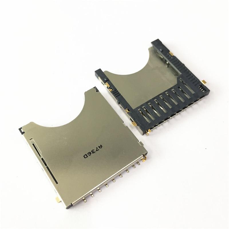 10 unids/lote 9Pin SD Combo Deck Bomb ranura para tarjeta SD Pop-up carcasa de ranura para tarjeta SD de alta calidad