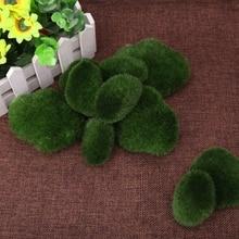 Pierres à mousse artificielles vertes 10 pièces   Fausse plante dherbe pour décoration de paysage bricolage de maison