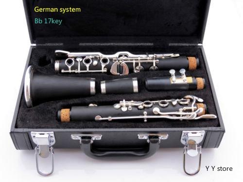 Clarinete profesional sistema alemán Bb ebonite 17 teclas