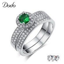 Bague en pierre verte/bleue/rouge S925 Bague en argent Sterling Bague de mariage pour femmes Bague de Couple pour accessoires amoureux Bijoux DR71