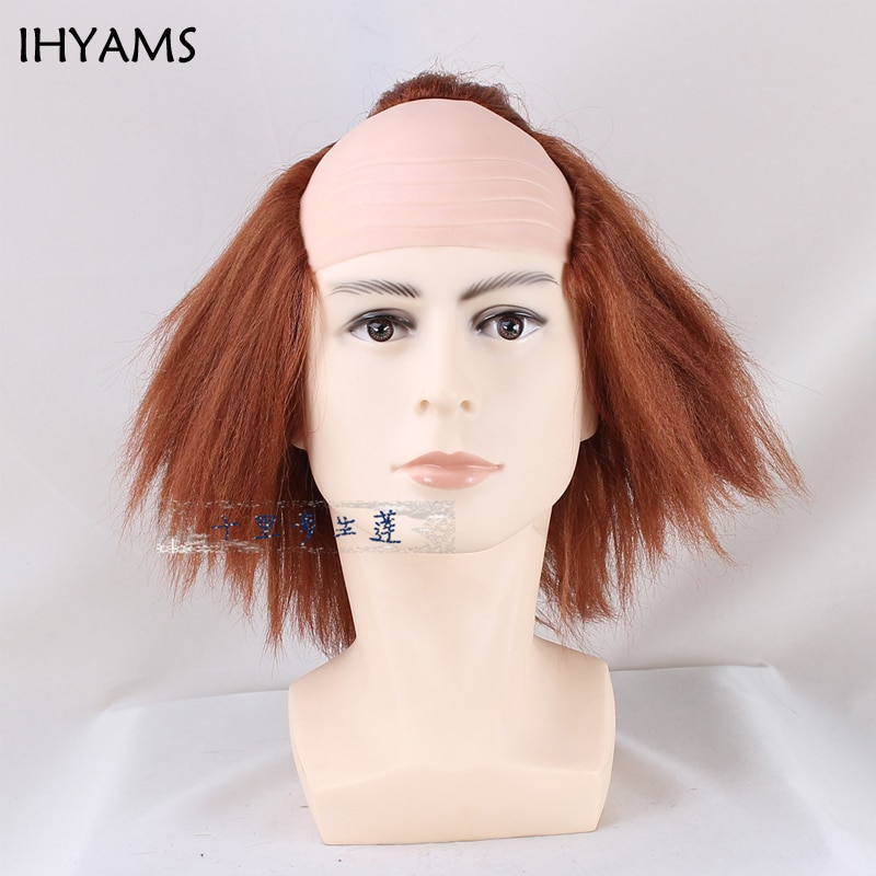 Stephen King IT Cosplay wig The Clown Pennywise Orange Short Synthetic hair Halloween role play costumes + wig cap