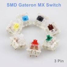 Commutateurs Gateron SMD noir rouge marron bleu clair vert jaune 3 broches commutateur Gateron pour clavier mécanique fit GK61GK64 GH60 dz60