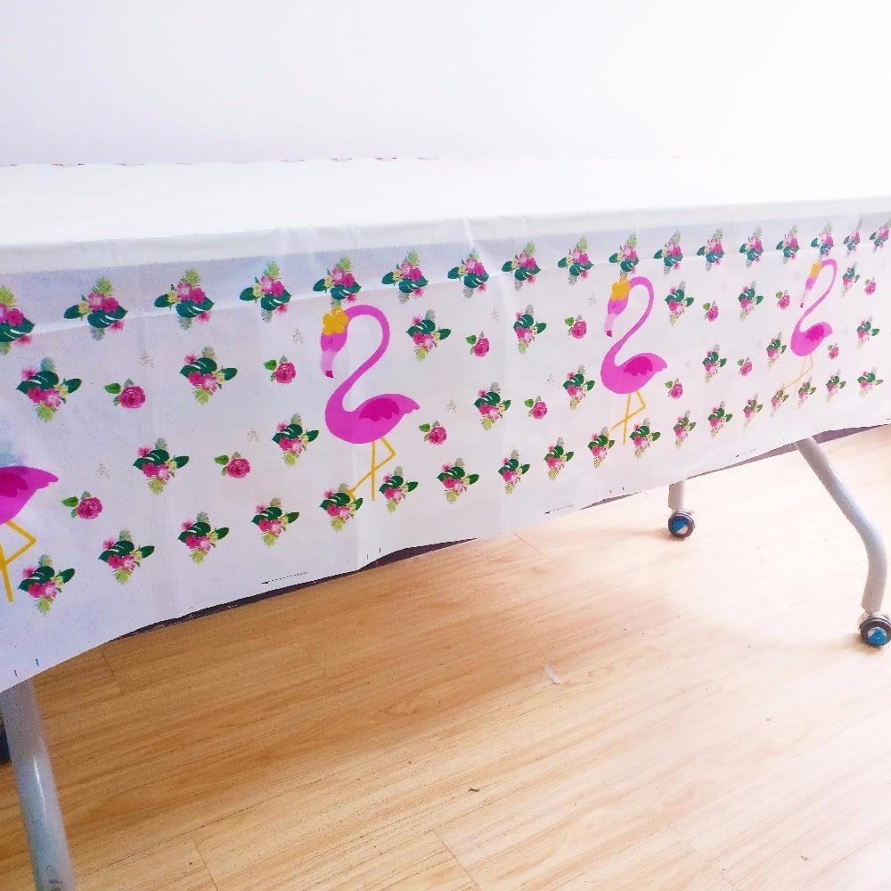 108cm*180cm Flamingo Party Supplies Plastic Tablecloth  Kids  Flamingo Theme Birthday party Decoration Tablecloth