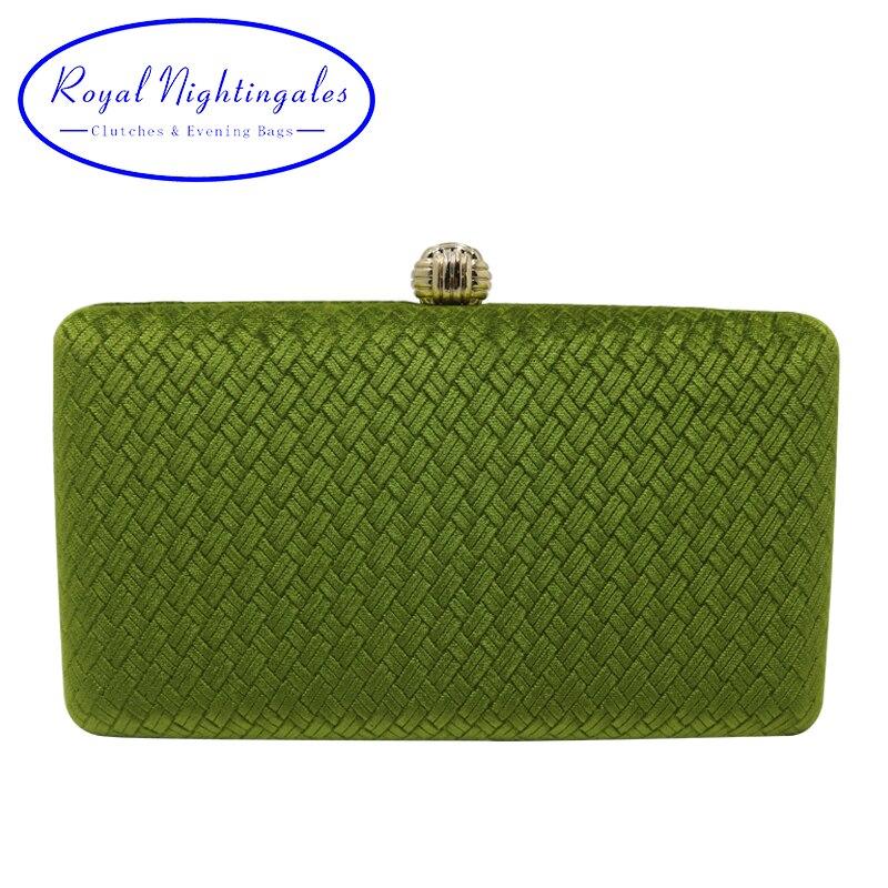 Royal Nightingales tejido terciopelo gamuza bolsas de embrague de caja de noche embragues y bolsos de mano para mujer verde/azul marino/azul