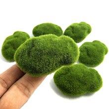4 크기 인공 거품 녹색 이끼 식물 장식 크리 에이 티브 홈 정원 잔디 바닥 장식