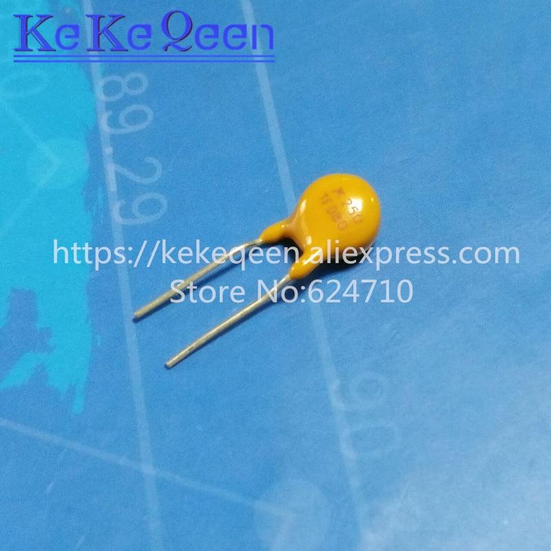 10 unids/lote la recuperación fusible PPTC TRF250-080 250 V 0.08A 80MA