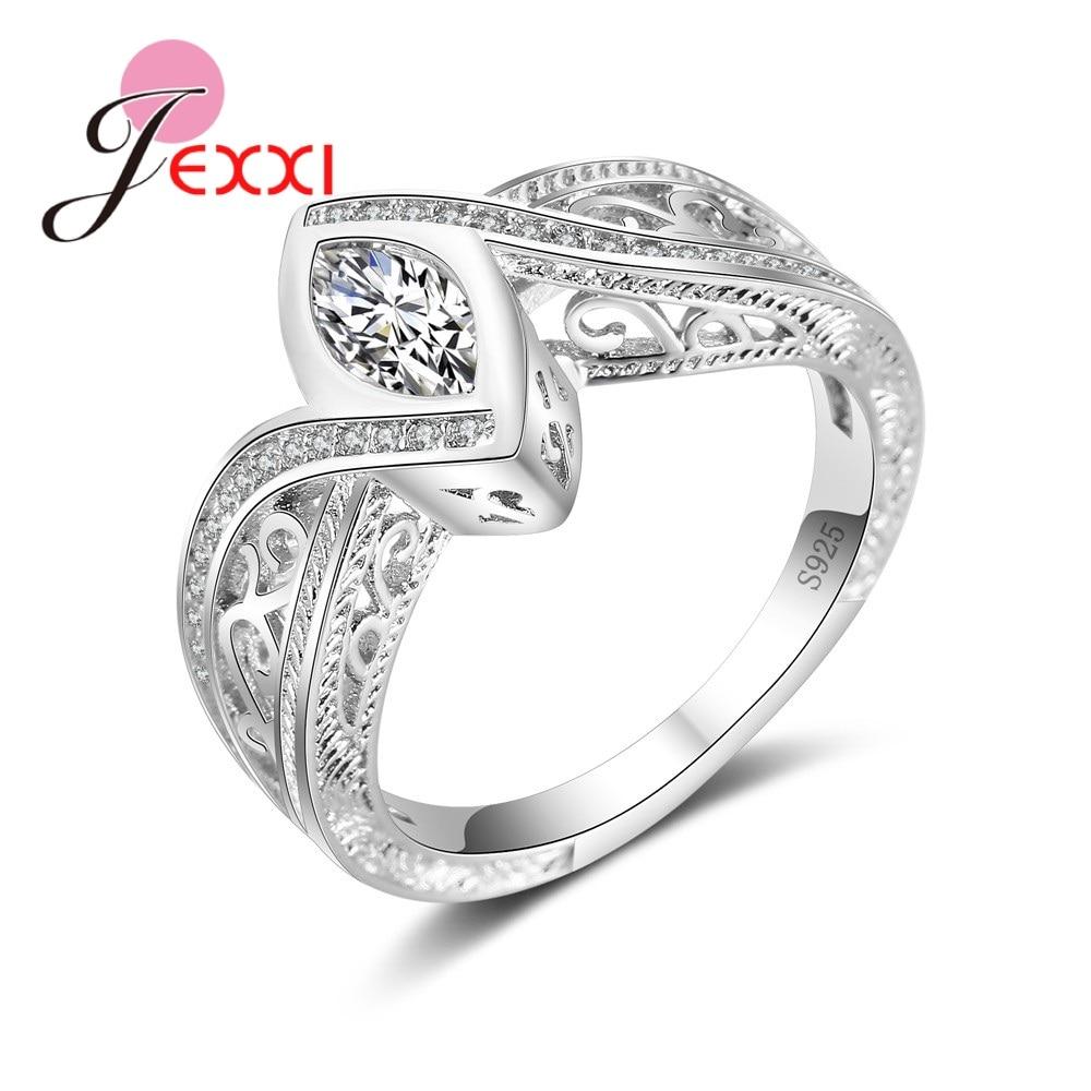 Женское кольцо с крестиком, из стерлингового серебра 925 пробы, вечерние ювелирные изделия с фианитом, обручальные кольца