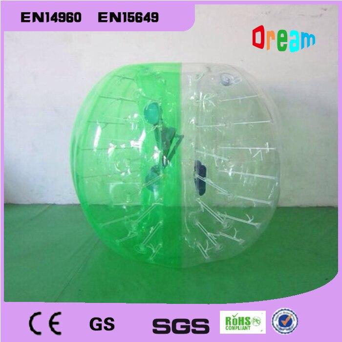 Frete Grátis Bolha de Ar De Futebol 0.8mm PVC 1.2 m de Ar para Carros Crianças bola Zorb Corpo Zorb Bola Bolha de Futebol Bolha Futebol bola