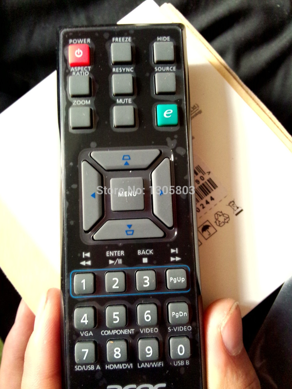 Original control remoto de proyector para Acer X112 X1163 P1163 X1263 P1276 P1273 P1373