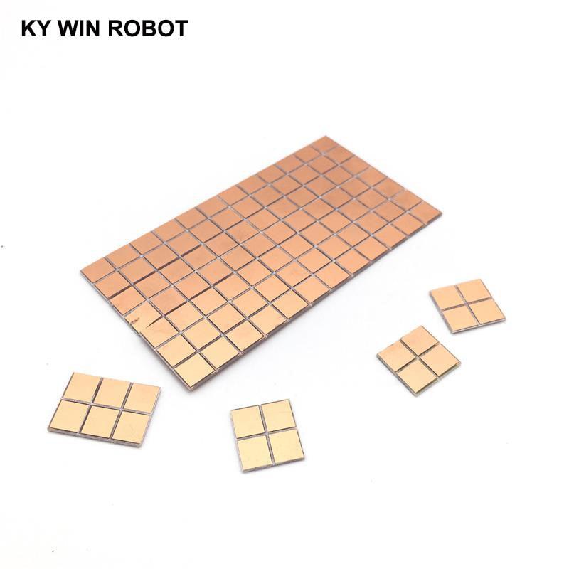 20 шт. FR4 PCB 6,5*7 мм двухсторонняя медная плакированная пластина DIY PCB Kit ламинатная печатная плата 0,65x0,7 см 6.5x7x1.0мм