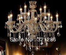 Lustre en cristal pour 12 têtes, lumières de salon, éclairage de restaurant, bougie, lampe en cristal 88021