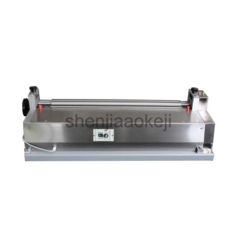 Máquina de pegamento de acero inoxidable máquina de tablero encolado de papel JS-500A máquina de pegado de cuero máquina de pegamento de cáscara de libro de muestra 220V 1 Pza