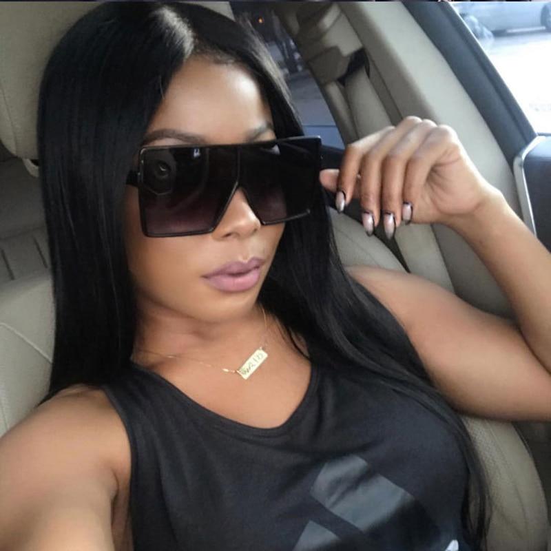 Oversized Sunglasses for Women Men Luxury Brand Designer Vintage Sun Glasses Female Male Big Frame B