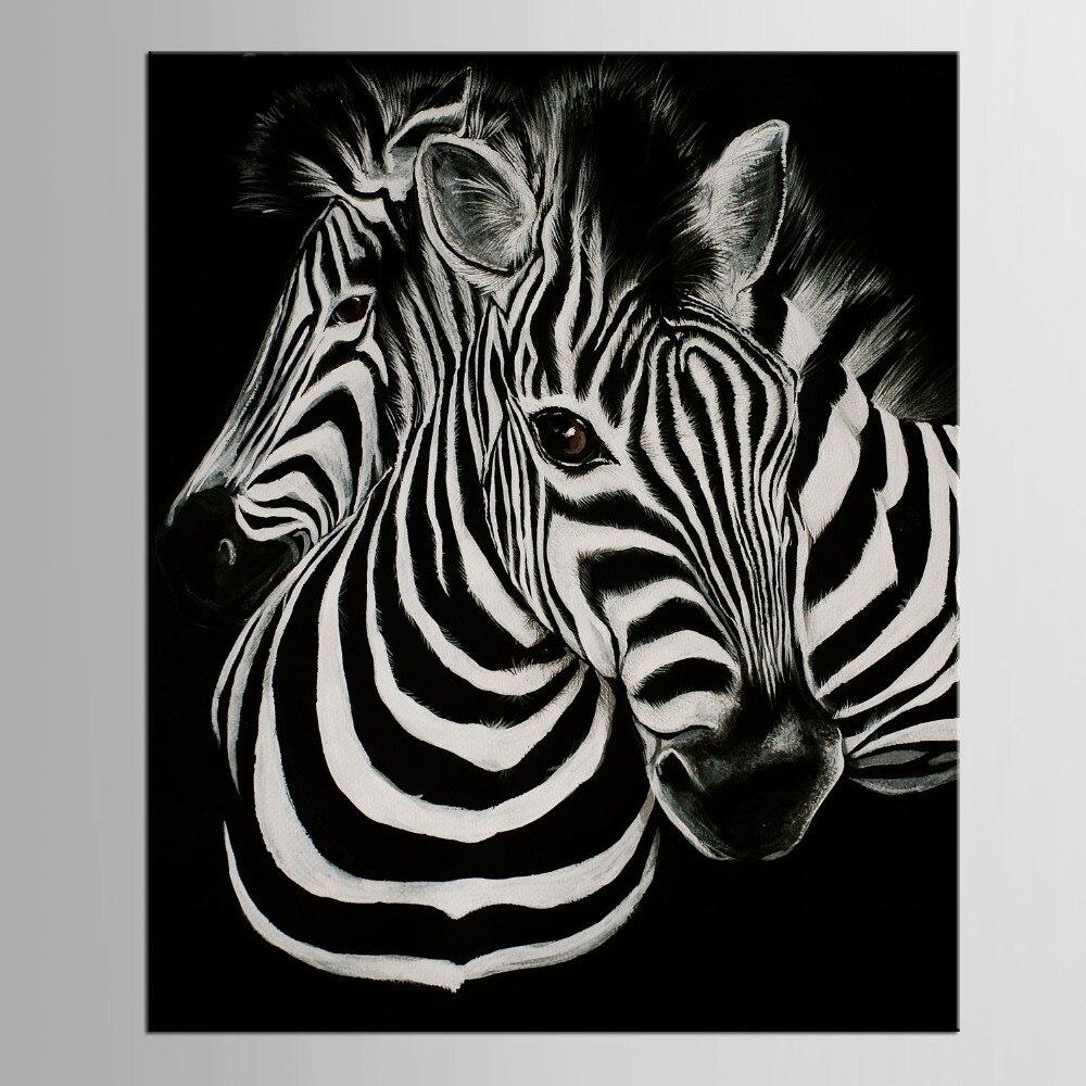 1 Панель черно-белый холст художественный Принт плакат Зебра Decoracion Infantiles животное табло Рождественский подарок