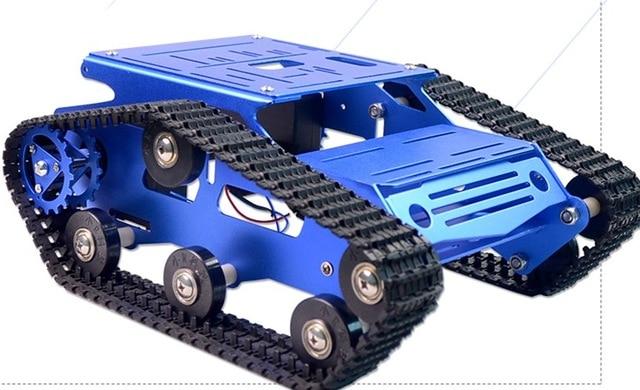 Robot Tank Car Metal Frame With DC Motor Caterpillar Crawler Chassis For DIY Robotic Model Robotics Experiment RC Toy Remote Kit enlarge
