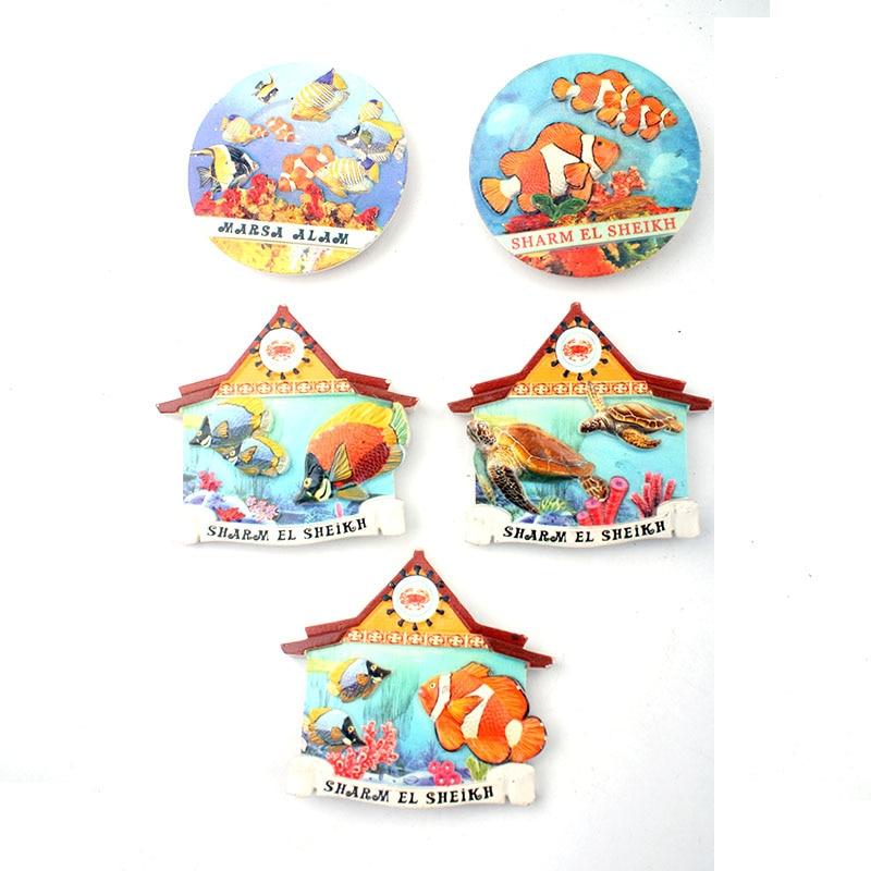 Pegatinas magnéticas 3D creativas con forma de peces o tortugas en forma de Animal, imán de resina para nevera, colección de regalos
