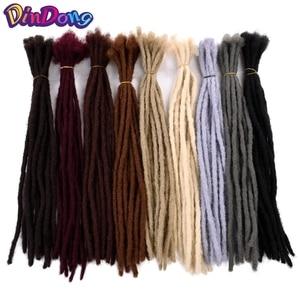 DinDong 20 inch Kakekalon Handmade Dreadlocks Crochet Braids Hair Extensions Pure Soft Reggae Hair Black Brown 9 Color Available