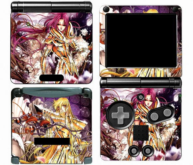 Saint Seiya 003 Vinil Adesivo de Pele Protetor para Nintendo Game Boy Advance GBA SP skins Adesivos