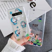 YHBBCASES Lovely Doraemon funda de teléfono para el modelo Samsung galaxy A7 A9 2018 A8S dibujos animados animales claro fundas de TPU para Samsung S10 C9 Note 9