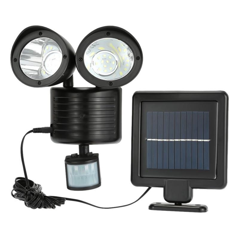 Dual Security Detector Solar Power Spot Light Motion Sensor 22 LED Floodlight for Outdoor Garden --M25