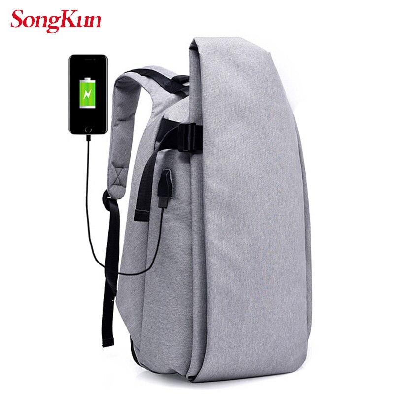 Mochila multifunción antirrobo para ordenador portátil SongKun, mochila para estudiantes con carga USB, mochila de viaje para Bolso de hombro de negocios