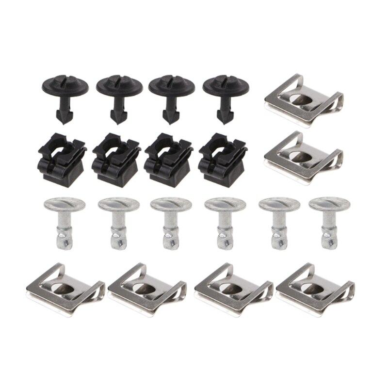 20 piezas, motor de protección de la bandeja inferior, Clips de fijación de cubierta, KIT de tornillos para AUDI A4 A6