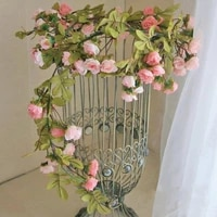 Vigne de roses artificielles en soie  170 cm  fausse fleur de lierre  decoration de mariage  guirlande suspendue  decoration de maison