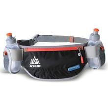 AONIJIE Running Waist Bag Hydration Belt Bottle Phone Holder Waterproof Jogging Waist Pack with Two Water Bottle 170ml