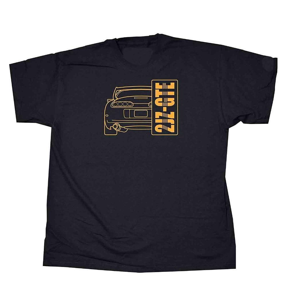 Diseños japoneses clásicos Legend Car 2Jz-Gte Jdm 2019 Camiseta de manga corta de algodón para hombre Camiseta básica para hombre