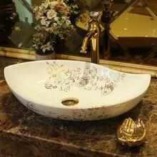 Jingdezhen ceramiczne wyroby sanitarne art licznik umywalka toaleta umywalka chińska sztuka ceramiczna umywalka ceramiczna mycia umywalka łazienkowa