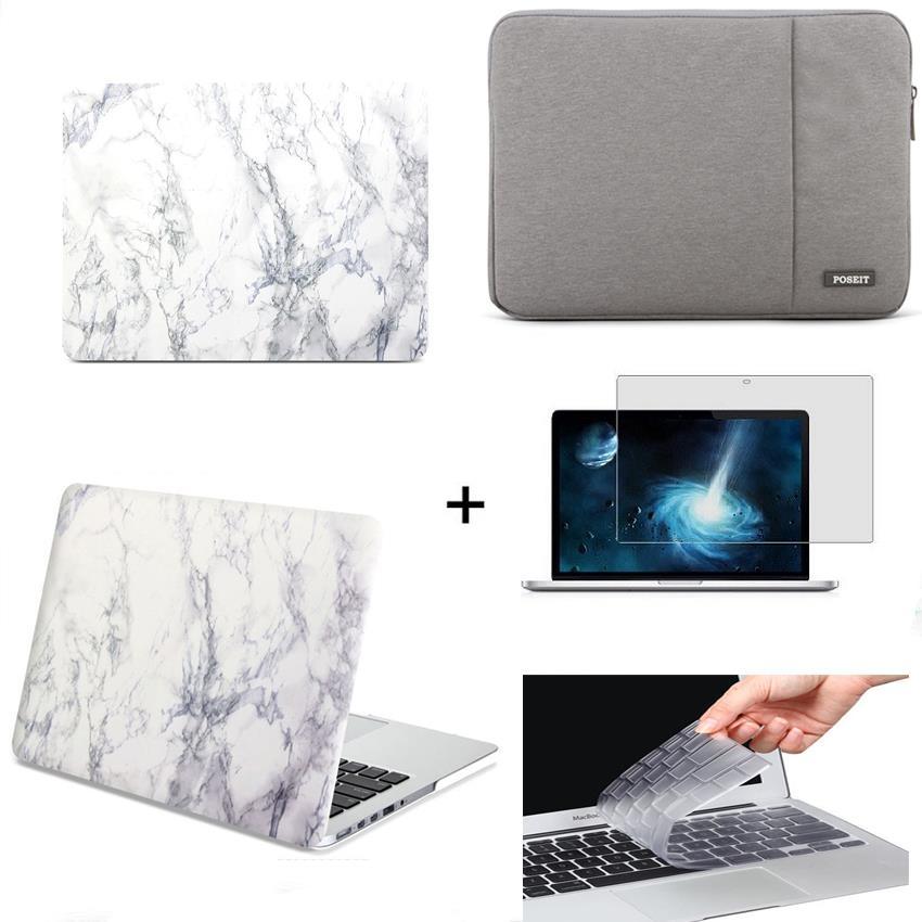 4 في 1 محمول الحالات الصعبة + كم حقيبة لوحة المفاتيح غطاء LCD لماك بوك برو الهواء الشبكية 11 12 13 15 محمول حقيبة اللمس بار A1990/A2159