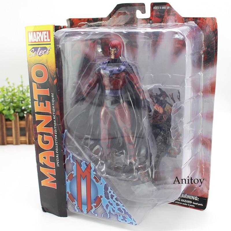 Marvel figura selecta Magneto acción figura especial coleccionista edición juguete 18cm