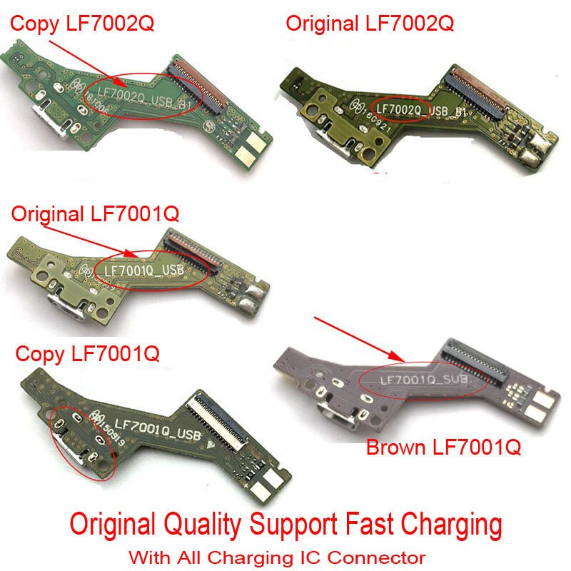 10 unids/lote puerto de carga Usb cable flexible para Lenovo PHAB PB1-750 PB1-750N conector de carga Micro Dock USB piezas de repuesto