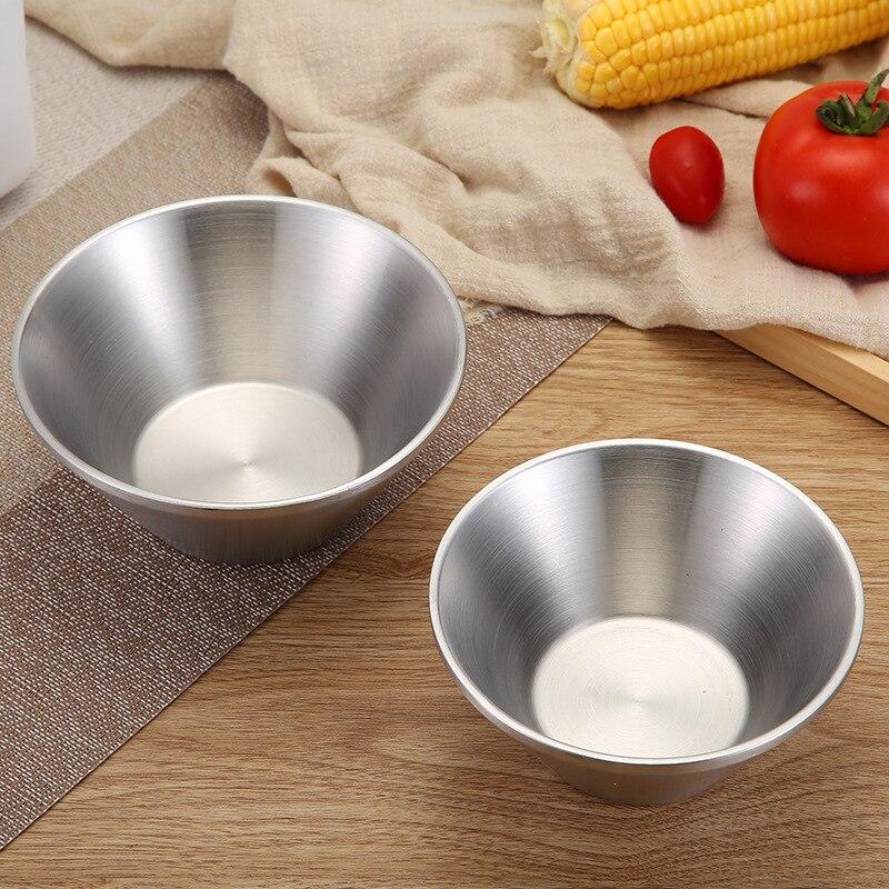 304 aislamiento térmico doble de acero inoxidable y Anti tazón para escaldar, niños adultos profundice engrosamiento hogar comiendo tazón de sopa