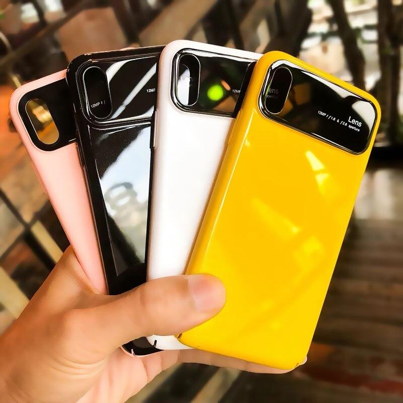Stoßfest Gehärtetem Glas Mirro Fall für iPhone 7 7Plus 8 8Plus 6s Plus iPhone 7 8 Abdeckung für Coque iPhone XS MAX XR X Glas Fall