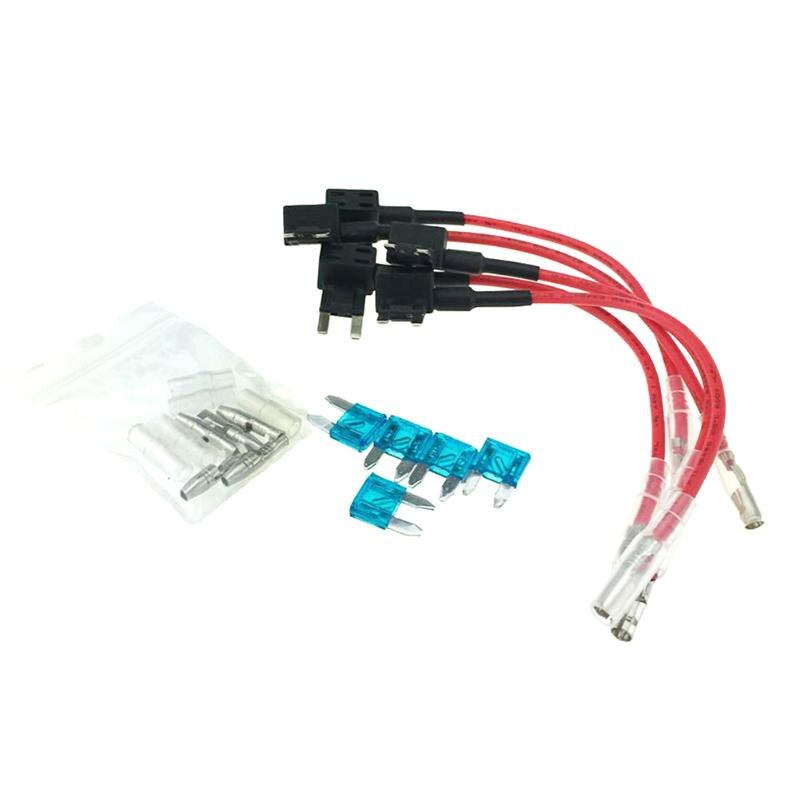 5 x 15A Auto Add Circuit Blade Mini Micro Fuse Boxe Holder Piggy Back Tap Boite Fusible Voiture Car Electrical Accessories Part
