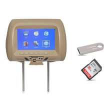 Hoofdsteun auto monitor met USB/SD/FM auto screen 800x480 resolutie hoofdsteun lcd auto monitor 7 inch rear seat entertainment 407