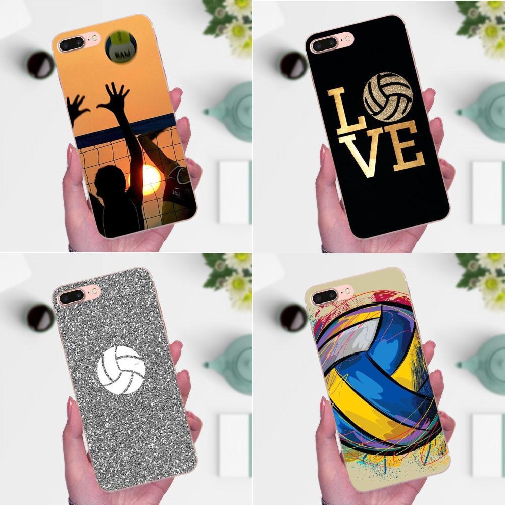 Deporte del amor de voleibol para Galaxy A3 A5 A7 On5 On7 2015, 2016 de 2017 gran alfa G850 Core2 primer S2 I9082 TPU Quinn teléfono