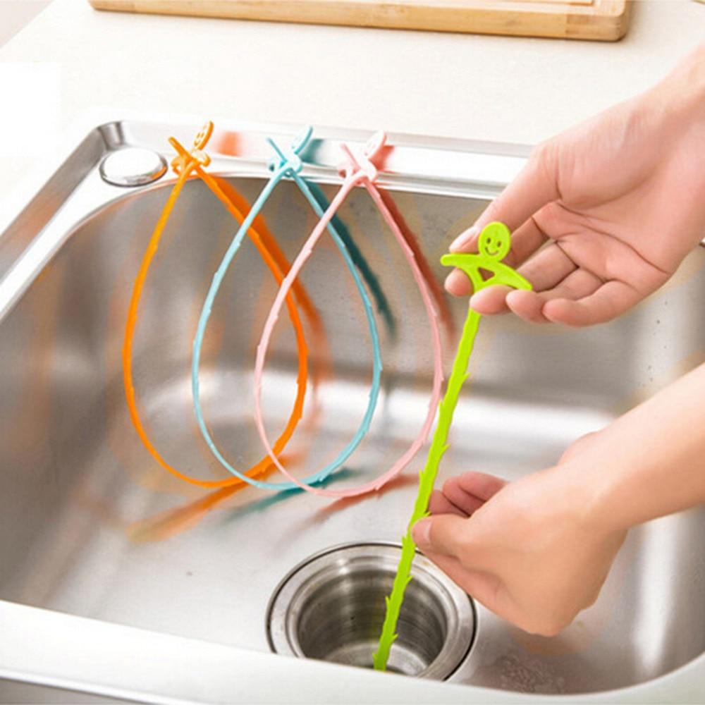 Длинная линия, пластиковый крюк, кухонная раковина для ванной, сливная труба, очиститель, трубопровод, удаление волос, душ, туалет, канализация
