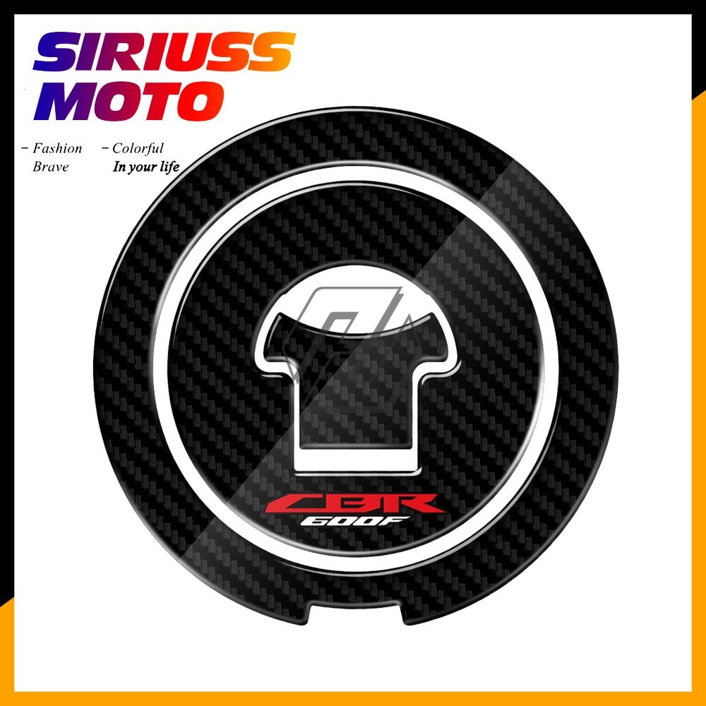 3D Carbon-look Motorcycle Fuel Gas Cap Protector Decals Case for Honda CBR600F F2 F3 F4 F4i 1987-2006