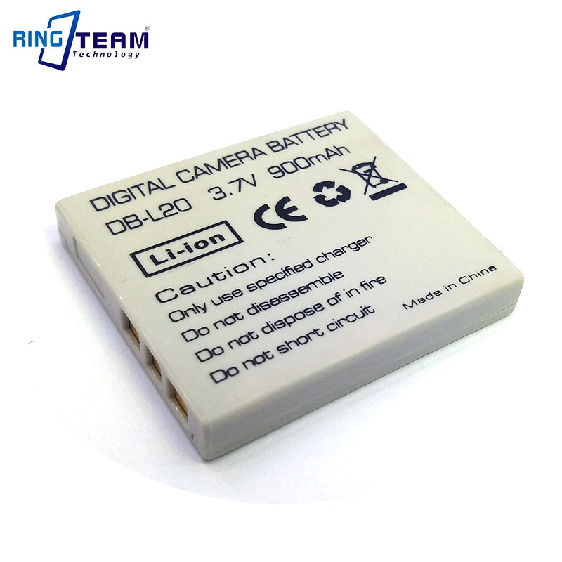 DB-L20AU DB-L20A Аккумулятор для Sanyo Xacti DMX C5W C6K C6S C6R CA6 CA65 CG65 Цифровые камеры видеокамеры...
